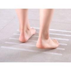 바닥 미끄럼방지 투명스티커 12p(2x38cm) 타일 논슬립