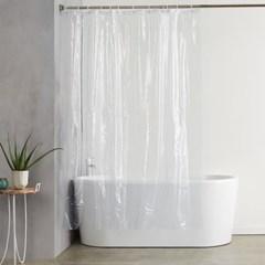 클린바쓰 투명 샤워커튼 호텔 화장실 욕실