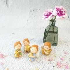 컬러풀 골드 아기 천사 4종