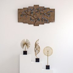 나뭇가지 나무 액자 철제 벽장식