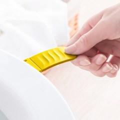 위생 변기커버손잡이(옐로우)/ 접이식 변기손잡이