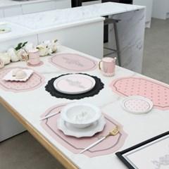 실리콘 사각 테이블매트 오마주 핑크