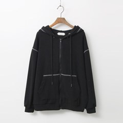 Melange Hood Zip-Up Sweatshirt