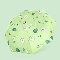 과일 모양 디자인 암막 방수 3단 자동 양우산