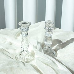 [반짝조명] 레트로 크리스탈 유리 촛대