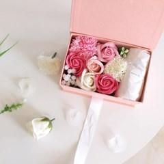 부모님선물 셀룰로이드 돋보기 목걸이 휴대용 확대경 꽃박스
