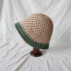 투톤 라피아 니트 벙거지 모자 버킷햇 (3color)
