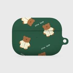 pajamas khaki slow bear 에어팟프로 하드케이스_(1036529)