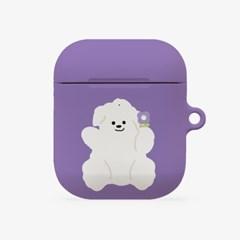 purple flower 뽀꾸 [hard 에어팟케이스]_(1036521)