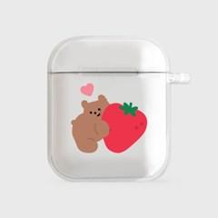 heart strawberry gummy [clear 에어팟케이스]_(1036498)