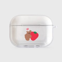 heart strawberry gummy [clear 에어팟프로케이스]_(1036492)