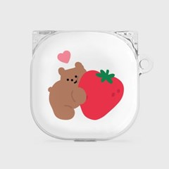 heart strawberry gummy [clear 버즈라이브 케이스]_(1036478)