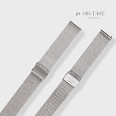 [MR TIME Stainless Steel Metal] 메탈 밀레니즈 실버