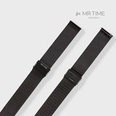[MR TIME Stainless Steel Metal] 메탈 밀레니즈 블랙