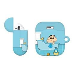 짱구 큐티 컬러 에어팟 2세대 1세대 공용 케이스+철가루 방지 스티커