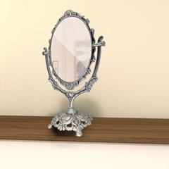 그랑시아 각도조절 양면 탁상 공주 화장 거울 대형