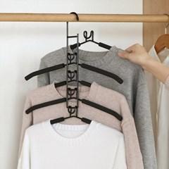 셔츠 니트 어깨뿔방지 공간절약스펀지 옷걸이랙  5개