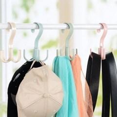 360도 회전 옷걸이 후크 4개걸이 가방 벨트 스카프 소품 보관걸이