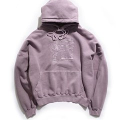 [EZwithPIECE] PIG DYED TRASHMAN HOODIE (PURPLE)_(401264788)