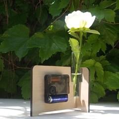 자작나무 시계 화분