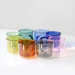 [4P세트] 카모메키친 이리스 이중유리컵 컬러머그잔