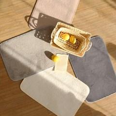 로망스 극세사 발매트+주방매트 세트 - 4color