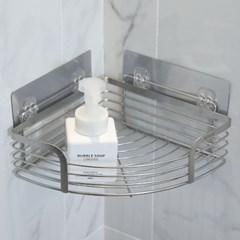 MD글로벌 무타공 스텐레스 욕실 화장실 코너 일자 선반