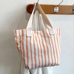 데일리 스트라이프 여성 캔버스 숄더백 가방