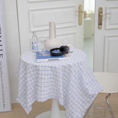 온더브리즈블루 식탁보 테이블보 135x135cm 테이블러너