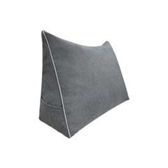 하라홈 모던 삼각등쿠션 솜포함 중형 그레이_(2001635)