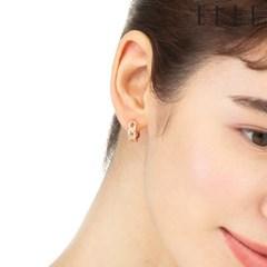 큐빅체인 귀걸이 오픈링 세트 EL2SET022_(1121701)