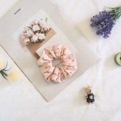 1+1 잔꽃무늬 봄봄 스크런치 곱창밴드