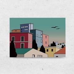 일러스트 포스터 / 인테리어 액자_old city 03