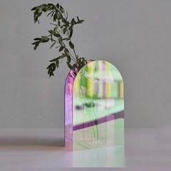 레인보우 아크릴 홀로그램 인테리어 화병 꽃병
