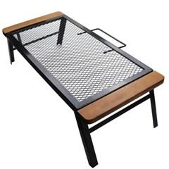 접이식 우드매쉬 내추럴 감성캠핑 테이블 70x32
