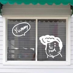 Yummy 가게 음식점 일러스트 레터링 인테리어 스티커