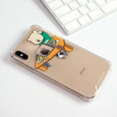 (아이폰 전용) apple mac bear 탱크투명하드케이스