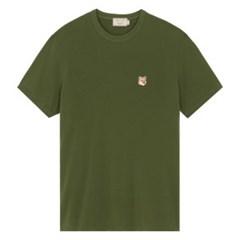 메종키츠네 폭스 헤드 패치 클래식 티셔츠 카키