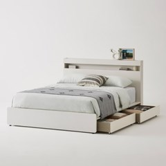 클로즈 침대 Q퀸/K킹 (하부서랍 포함) + 노뜨 라텍스탑 매트리스 Q퀸