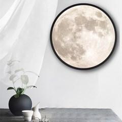 LED 달모양 화장거울 벽거울 무드등거울 인테리어 소품 20cm
