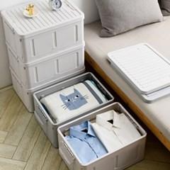 리빙박스 다용도 접이식 폴딩 수납 옷정리노하우 박스