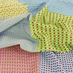 [Fabric] 후르츠 패턴 6in1 일러스트 컷 린넨