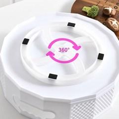 주방용품 정리 회전 원형 돌리고 멀티수납함