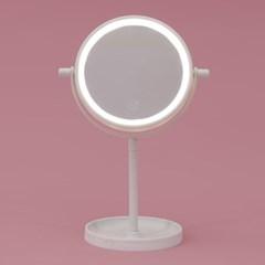 [홈앤트리] 엘리 터치 LED 스탠드 조명 거울(화이트)