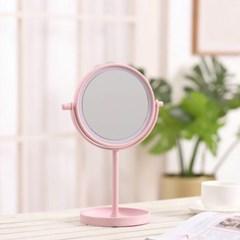 [홈앤트리] 엘리 터치 LED 스탠드 조명 거울(핑크)
