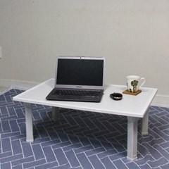 자취방 거실 앉은뱅이 접이식 폴딩 화이트 좌식 테이블 탁자