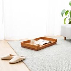 라탄 사각 접이식 티테이블