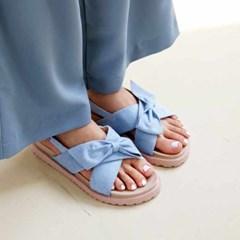 kami et muse Ribbon suede strap comfort sandals_KM21s178
