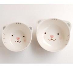 어린이 밥공기+대접세트_고양이