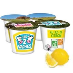 [LES 2 VACHES] 유기농 레몬 요거트 4X115g